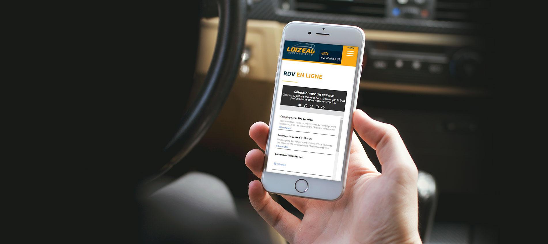 Achat vente de voitures d 39 occasion en vend e garage loizeau for Rdv en ligne garage